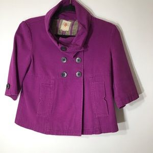 Anthropologie Tulle purple jacket small ro…